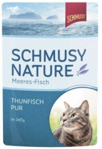 Schmusy: 2 Sorten Fisch pur in 100g-Be..